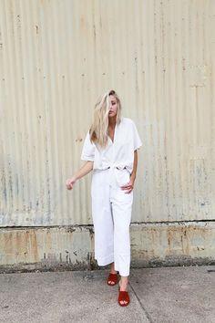 16 Looks En Total White Con Pantalones | Cut & Paste – Blog de Moda