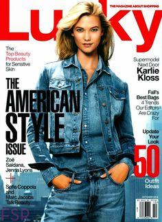 Karlie Kloss for Lucky - October 2014