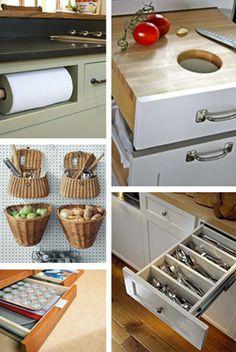 unique kitchen solutions | Kitchen Ideas – Custom Built-In Kitchen Storage Ideas