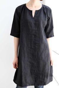 simple linen dress: