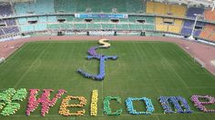 The 5th Shincheonji National Olympiad (October 5, 2008): Mass Game - We welcome you.