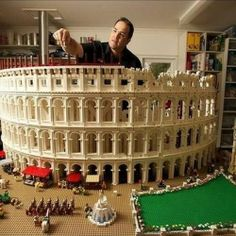 World's First LEGO Colosseum built with 200,000 bricks by Ryan McNaught.