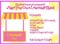 Make your own Lemonade Stand Kit for those hot summer days! Free Printables that make it extra cute and refreshing! Happy Summer!