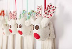 Christmas Stocking 2015 www. Soft Toys Making, Christmas Stockings, Christmas Ornaments, December, Holiday Decor, Unique, Red, How To Make, Handmade