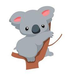 Wallmonkeys Wall Decals Not Applicable Wallmonkeys Cute Baby Koala Cartoon Peel Illustration Koala, Koala Baby, Image Deco, Cartoon Drawings Of Animals, Cartoon Images, Nursery Decals, Wall Decals, Australian Animals, Animal Wallpaper