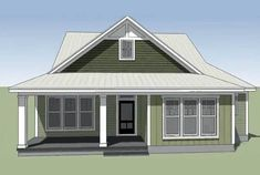 Southern Cottage for a Narrow Lot - 15043NC   Architectural Designs - House Plans House With Porch, Cozy House, Large House Plans, Veranda Design, Southern Cottage, Irish Cottage, Farm Cottage, Cottage House, Porch Kits