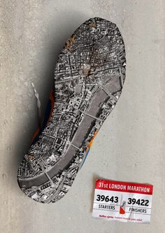 This was a common replicated posters, just the city name and shoe blueprint was changed. I think although this poster is about foot pain, it does announce the marathon event as well, only post-completion. We often disregard the bottom of our shoe, which tells much of how we walk, where we walk, and how often we walk (in those shoes). Although you don't need to know the city's layout, it personalizes the poster to where you are located.