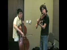 """Two kids play the Beatles' """"Let It Be"""" on the cello and violin.  CLICK PHOTO AND GO TO WEBSITE"""
