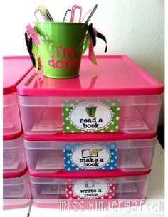 "Miss Kindergarten: I'm Done Jar Fun and engaging activities for your students to complete when they're ""done"" with their work! Definitely can do this with more grades than kindergarten too! Classroom Organisation, Teacher Organization, Classroom Setup, Teacher Tools, Classroom Management, Organized Teacher, Future Classroom, Teacher Desks, Classroom Displays"