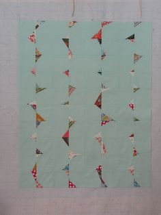 stitch and flip triangles by Sew Katie Did, via Flickr - might be fun to do with my leftover orange from goldfish quilt.