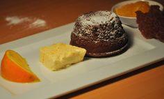 Dessert für Das Weihnachtsmenü: Orangensorbet, Grand-Marnier-Parfait, Schokotörtchen  Die weiteren, dazugehörenden Gänge sind im Beitrag verlinkt.