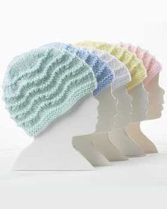 FREE - Warm lacy knit baby hats size Preemie through 18 months.