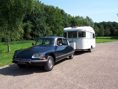 Holiday with our 1971 Citroen DS and our 1971 Constructam Caravan.