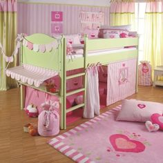 Nursery furniture for girls - interior design examples Bedroom Sets, Girls Bedroom, Bedroom Decor, Girl Nursery, House Bunk Bed, Creative Beds, Mid Sleeper Bed, Interior Design Examples, Youth Rooms