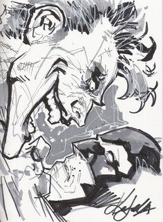Joker vs Batman by Ken Lashley