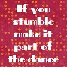 If you stumble...
