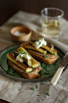 Zucchini on toast