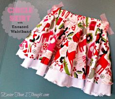 double layer twirly skirt with encased waistband and serged hem