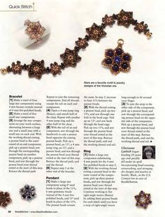 Bead & Button   (p 28)  Designer: Glorianne Ljubich   Materials: