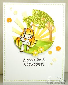Hello friends of The Farm! Amy here and I've got a happy little unicorn card to share with you today. Last month we did a pre-order for the two new unicorn clear sets, Be a Unicorn and A Lil'…
