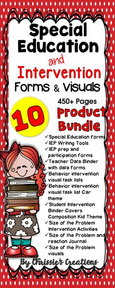 Special Education and Intervention Forms and Visuals.  This Special Education…                                                                                                                                                                                 More