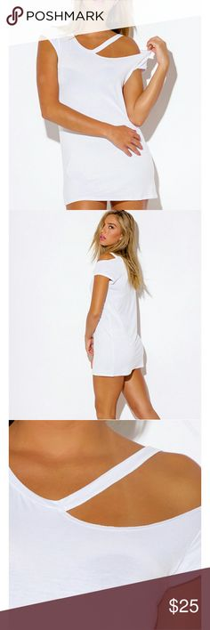 White mino dress Super cute and sexy mini dress. This rugged dress or long top is awesome! Dresses Mini