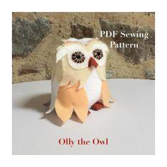 Felt Owl Pattern, Monkey Pattern, Owl Sewing Patterns, Owl Felt, Dragon Pattern, Embroidery Scissors, Digital Pattern, Felt Crafts, Barn
