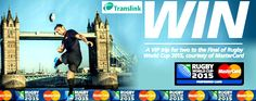 Translink calls on passengers to 'try out' for ultimate rugby prize a VIP trip for two to the Final of the Rugby World Cup 2015 now on WWW.INTOUCHRUGBY.COM