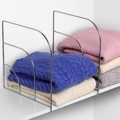 organize your closet shelves with these large over the shelf dividers ideal for up