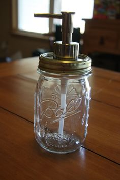 A Farm Wife's Life: DIY - Making a Mason Jar Soap Pump  Like the idea of using glass instead of plastic!  Think I would use it for homemade dish soap