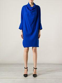 GIANLUCA CAPANNOLO - draped cowl neck dress