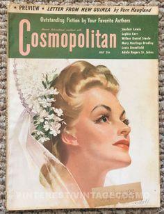 "Cosmopolitan magazine, JULY 1943 Artist: ""I Love You Truly"" by Bradshaw Crandell"