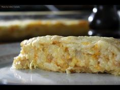 Portuguese Recipe - Bacalhau espititual - Cod with potatoes and cheese Chef Taico, Portuguese Recipes, Food Videos, Cod, Seafood, Easy Meals, Cooking Recipes, Fish, Desserts