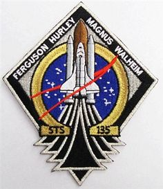 STS-135 Mission Patch is the last planned Space Shuttle mission. Space shuttle Atlantis will carry the Raffaello multipurpose logistics module to deliver supplies, logistics and spare parts to the International Space Station. Atlantis also will fly a system to investigate the potential for robotically refueling existing spacecraft and return a failed ammonia pump module.