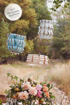 DIY Easy Party Wallpaper Lanterns !