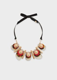 Mixed piece necklace - Jewellery for Woman Red Jewelry, Dainty Jewelry, Metal Jewelry, Jewelry Accessories, Handmade Jewelry, Jewellery Box, Jewelry Necklaces, Jewelry Trends 2018, Lace Necklace