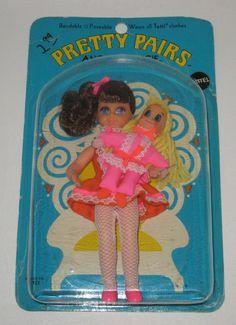 Vintage Mattel Pretty Pairs Angie & Tangie MOC AE4