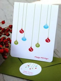 Cool idea for the envelope sticker too. Etsy Finds: #Handmade #Christmas #Cards