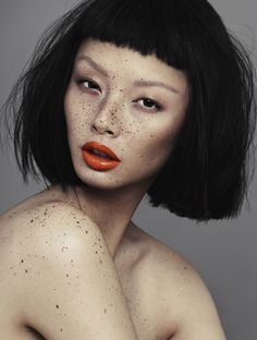 'Speckled' - model: Alice Ma - photographer: Alex Evans - hair make-up: Natalie Ventola - Chloe Magazine Spring14
