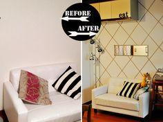 DIY Washi Tape Diamond Wall //Vivat Veritas Blog #decor