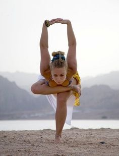 Beautiful yoga pose for balance, focus, outer hip stretch, leg strength and a mighty shoulder stretch. Enjoyed and repinned by yogapad.com.au