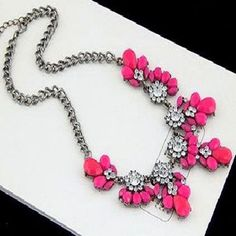 Chunky Fashion Pink Necklace For Women