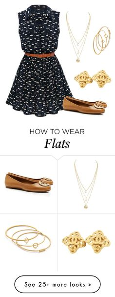 """Cats"" by rebeccabranske on Polyvore featuring Tory Burch, Chanel and Madewell"