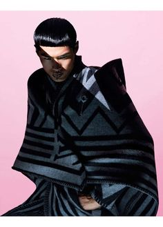Samurai-Inspired Winterwear - The Hao Yunxiang GQ Style China Editorial is Tightly Wrapped (GALLERY)