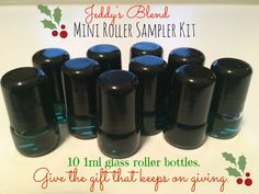 1ml micro mini roller bottles with stainless steel roller ball. Share your samples of essential oils.