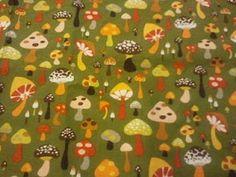 70's mushroom fabric