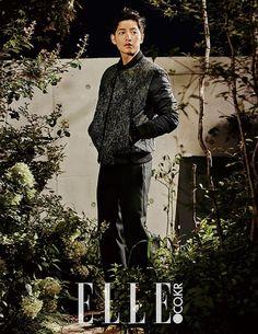 Go here for Song Joong Ki's previously released KOLON Sports shots for Elle Korea's October issue. Park Hae Jin, Park Seo Joon, Park Hyung, Song Joong, Song Hye Kyo, Descendants, Kdrama, Soon Joong Ki, Deep Rooted Tree