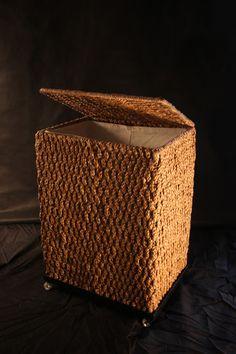 STORAGE BOX  #EcohomeArt #waterhyacinth #NaturalResources #brown  #homedesign #uniquehomeaccesories #IndoorANDOutdoor