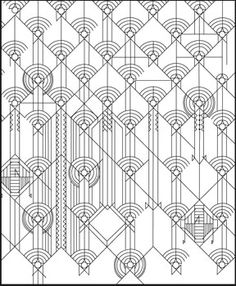 Designs by Frank Lloyd Wright Coloring Book