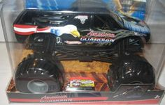 Hot Wheels Monster Jam 1:24 Scale Die Cast Official Monster Truck 2010 Series AMERICAN GUARDIAN with Monster Tires, Working Suspension and 4 Wheel Steering by Hot Wheels. $29.98. Diecast large body truck. Authentic, licensed Monster Jam trucks with power, attitude, excitement and action! These 1:24 Monster Jam trucks have die-cast bodies with plastic chassis and roll cages, and oversized tires. Small Parts may be generated. For ages 3+
